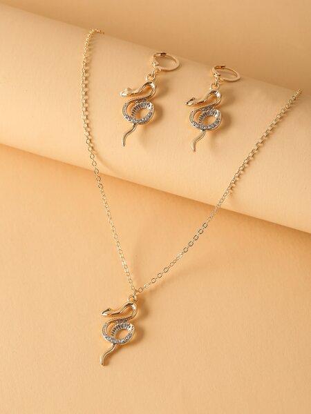 3pcs Snake Decor Jewelry Set