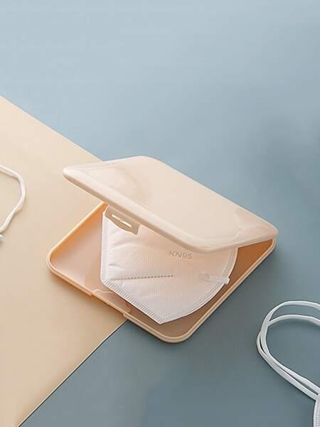 1pc Plain Face Cover Storage Box