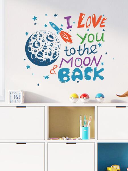 Kids Slogan Graphic Wall Sticker