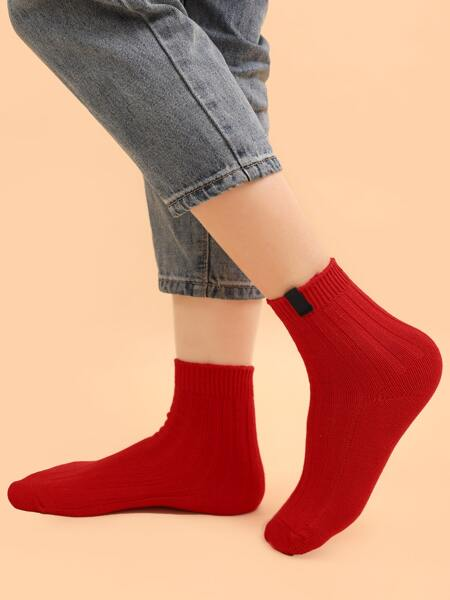 Label Detail Crew Socks