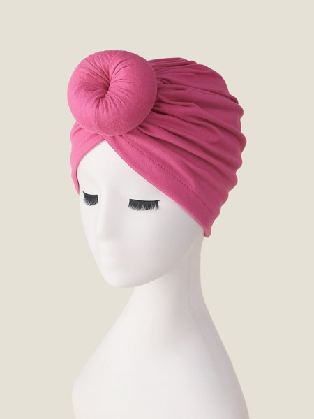 Round Decor Turban Hat