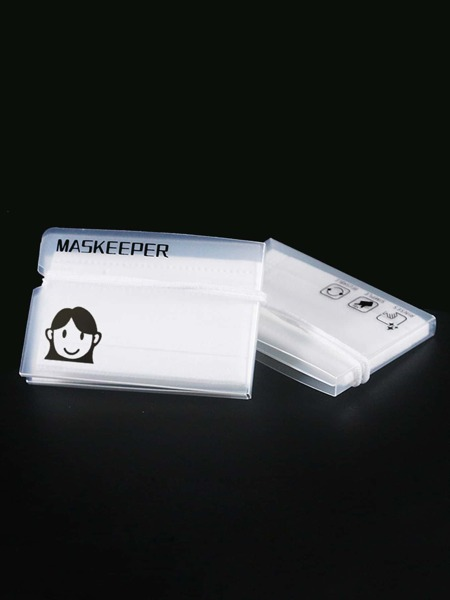 6pcs Cartoon Girl Print Face Cover Pocket