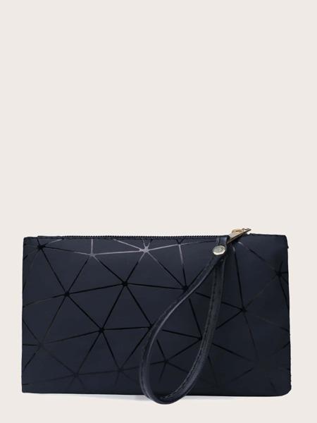 Geometric Graphic Clutch Bag