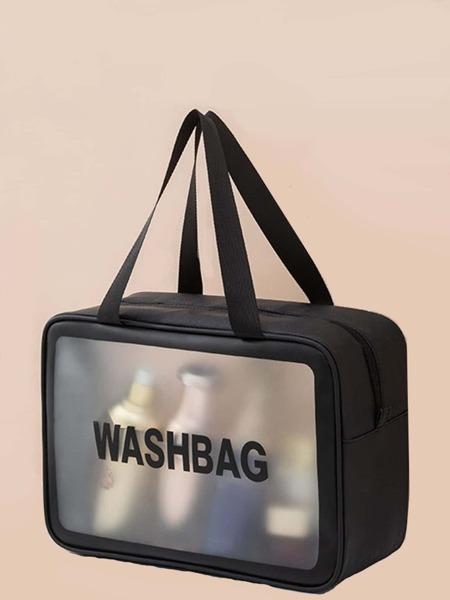 Letter Graphic Makeup Bag