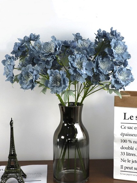 1branch Artificial Flower With 6pcs Head