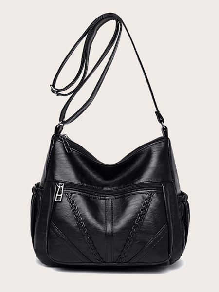 Braided Embossed Crossbody Bag