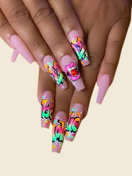 1sheet Graphic Nail Art Sticker