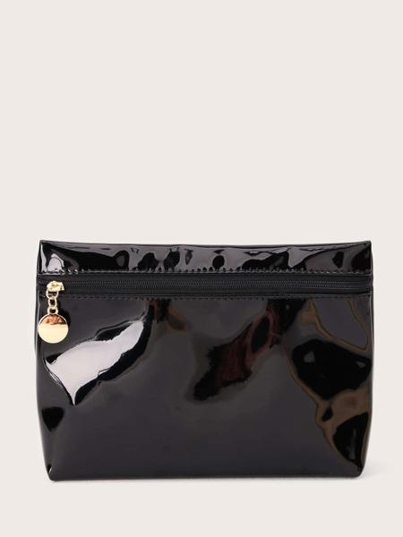 PU Leather Zipper Makeup Bag