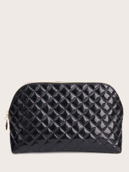 Quilted Zipper Makeup Bag