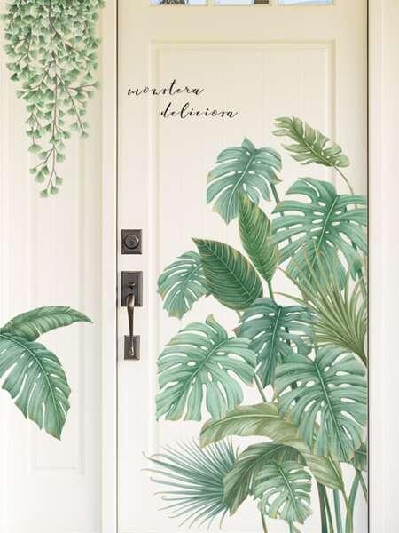 2sheets Plants Pattern Wall Sticker