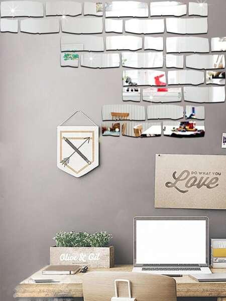 24pcs DIY Mirror Surface Wall Sticker