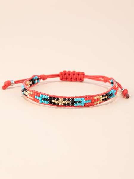 Colorful Beaded String Bracelet