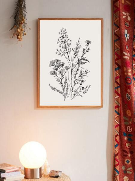 Flower Print Wall Painting Without Frame