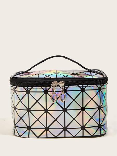 Holographic Metallic Makeup Bag