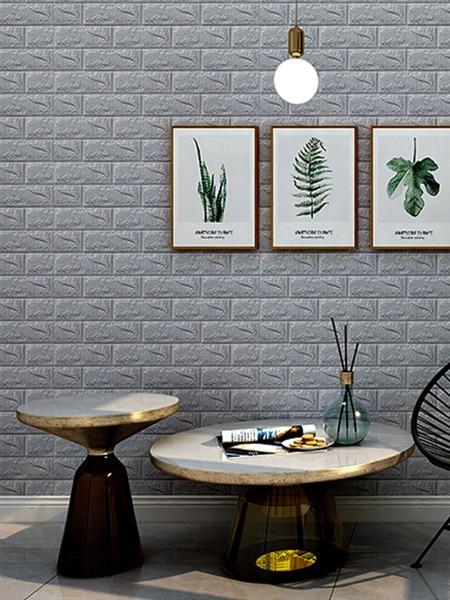 1sheet 3D Brick Pattern Polyfoam Wallpaper Sticker