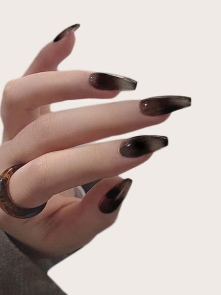 24pcs Fake Nail & 1sheet Tape