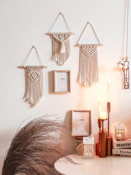 3pcs Woven Tassel Wall Hanging