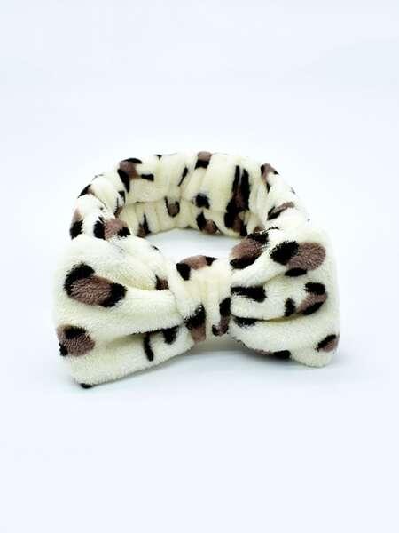 Leopard Print Bath Headband