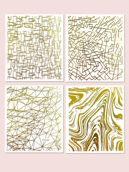 4sheets Abstract Line Nail Art Sticker