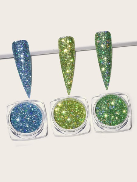 3boxes Glitter Nail Art Decoration
