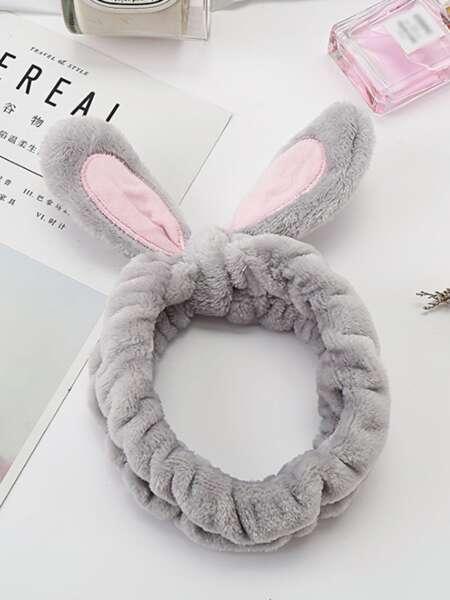 Rabbit Ear Detail Bath Headband