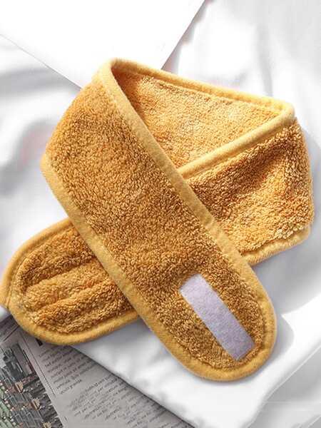 1pc Plain Velcro Bath Headband
