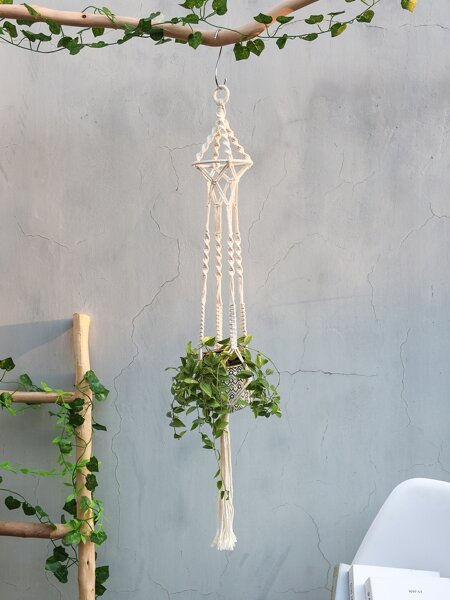 1pc Woven Macrame Plant Hanger