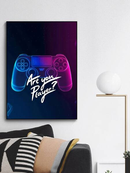 Gamepad Print Wall Painting Without Frame