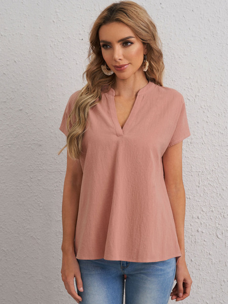 Notched Neck Solid Top