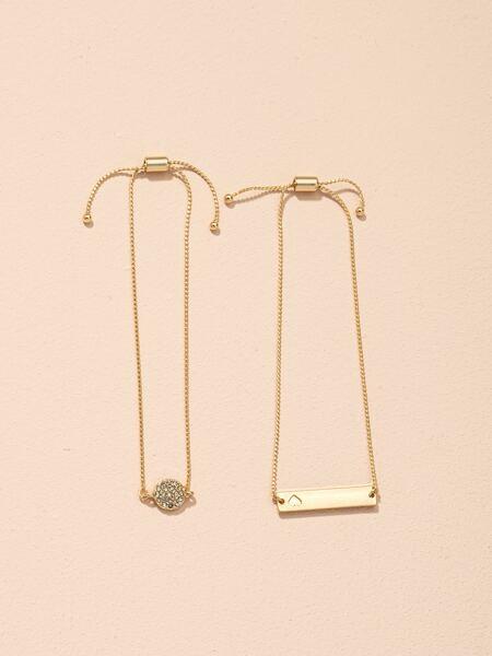 2pcs Metal Bracelet