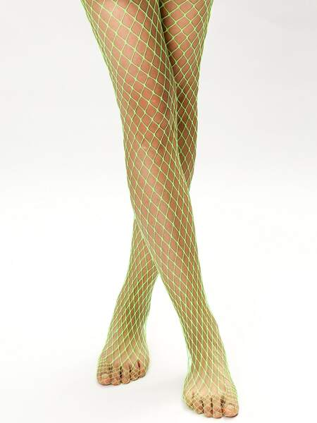 Solid Fishnet Tights