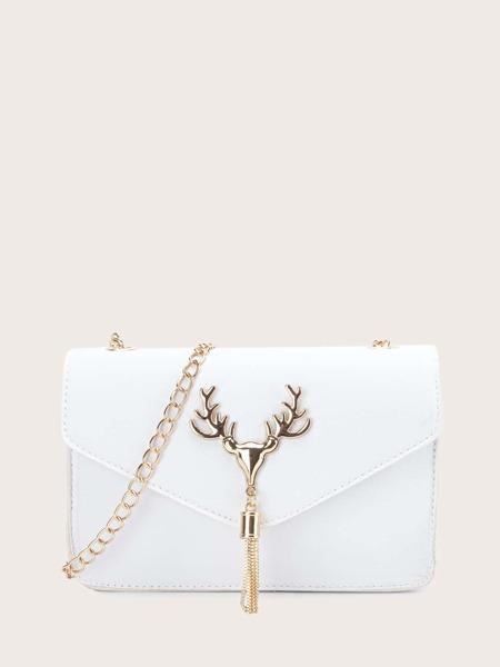 Tassel Charm Chain Crossbody Bag