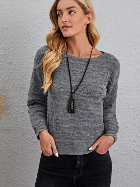 Bishop Sleeve Cable-knit Sweater