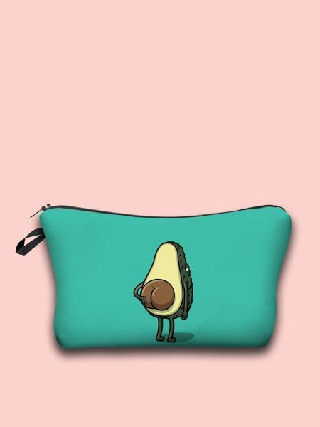 Funny Avocado Makeup Bag