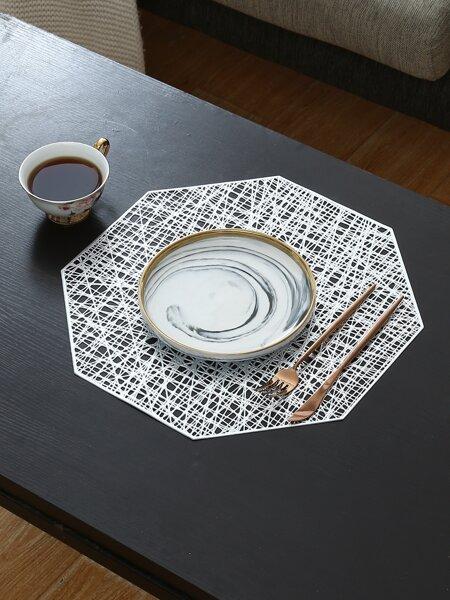 1pc Hexagon Hollow Placemat
