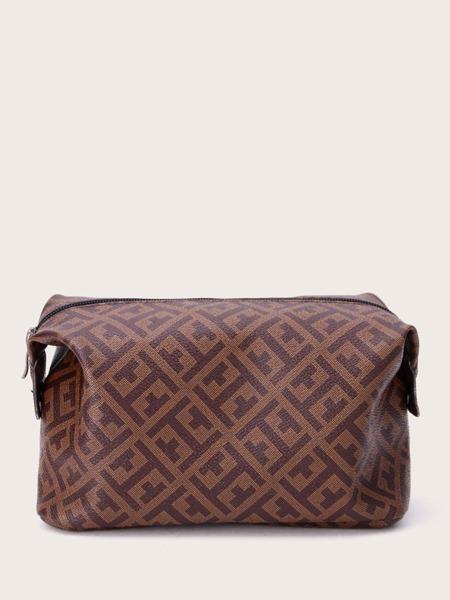 Graphic Zipper Makeup Bag