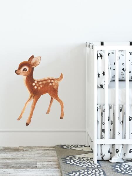 Kids Deer Print Wall Sticker