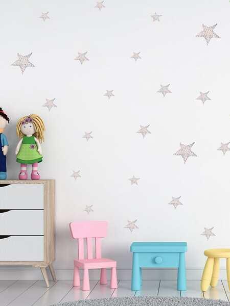 Kids Star Print Wall Sticker