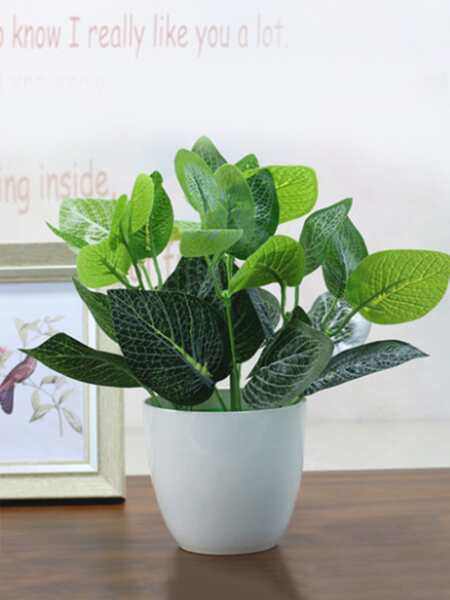 1bundle Artificial Leaf With 7pcs Branch