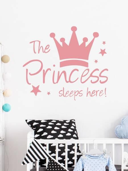 Kids Crown Print Wall Sticker