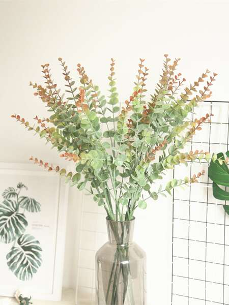 1branch Artificial Eucalyptus Leaf