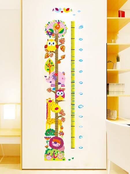 Kids Cartoon Graphic Height Measurement Wall Sticker