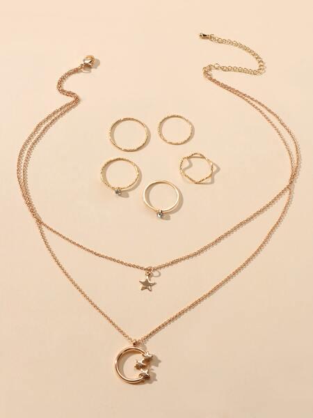 6pcs Star Decor Jewelry Set
