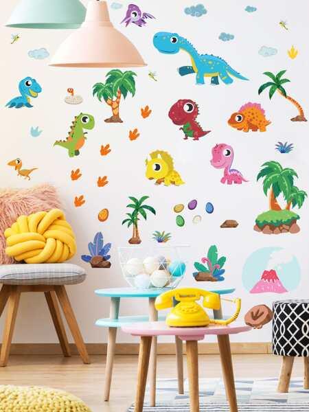 Kids Cartoon Dinosaur Print Wall Sticker