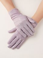 Polka Dot Print Gloves