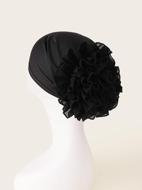 Plain Flower Decor Hat