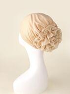 Flower Decor Turban Hat