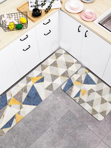 Geometric Pattern Kitchen Carpet