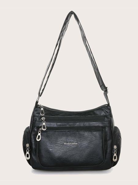Zip Front Crossbody Bag
