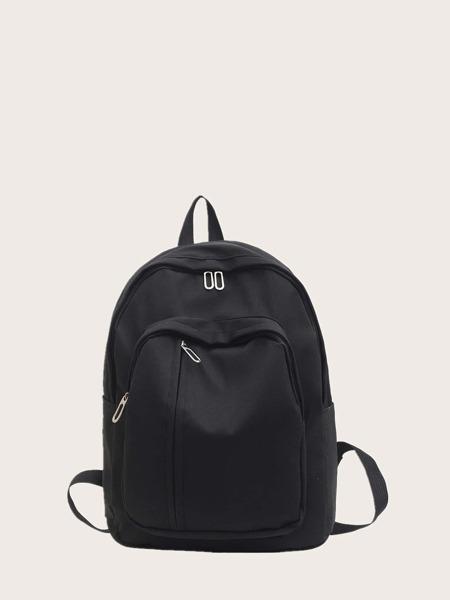Pocket Front Zipper Backpack